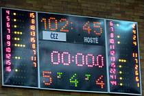 Z utkání Mattoni NBL: Nymburk - Kolín (102:45).
