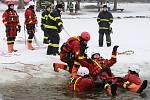 Vyžlovský rybník byl v obležení středočeských hasičů.