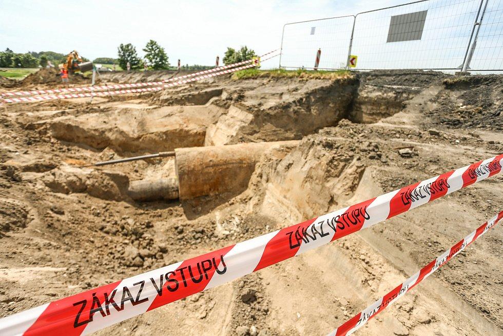Stavební úpravy nebezpečné zatáčky u Jiřic.