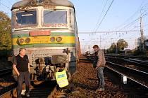 Z místa nehody, asi 200 metrů od nádraží v Lysé nad Labem.