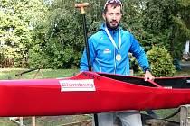 ONDŘEJ PETR, kanoista nymburské Lokomotivy, se stal v Maďarsku mistrem světa v kategorii Masters