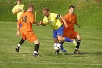 Z fotbalového utkání krajské I.B třídy Libodřice - Sokoleč (2:5)