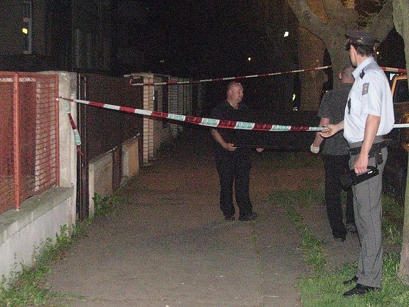 Ulice Palachova v Poděbradech, kde byli nalazeni tři mrtví mladíci