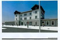 Vizualizace budoucího nádraží v Nymburce