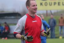 DAVID VÁCLAVÍK, gólman Libice nad Cidlinou, nedostal gól v sedmi dosavadních zápasech krajské I.B třídy