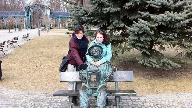 Lázně Kudowa Zdroj a socha zahradníka v parku