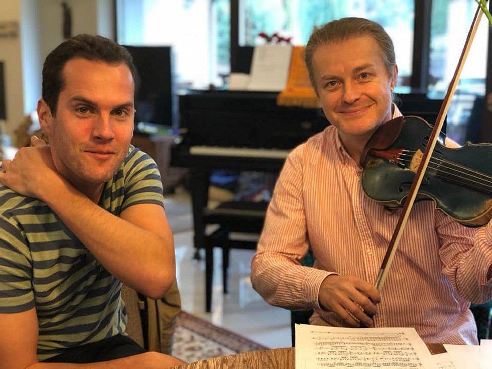 Lukáš Sommer s Pavlem Šporclem.