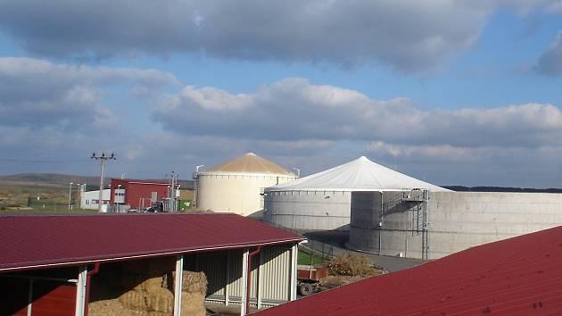 Bioplynová stanice v Kněžicích.