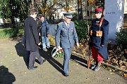 Slavnostní shromáždění s položením věnce se konalo v sobotu symbolicky od 11. 11 hodin v Parku hrdinů v Nymburce.