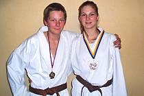 Úspěšní karatisté - sourozenci Lucie a Jakub Krátkých