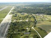 Letiště Boží Dar - letecký snímek