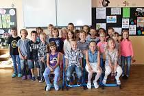 Třída 1. C ZŠ Letců R.A.F. Nymburk, třídní učitelka Pavlína Červinková.
