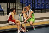 Z basketbalového utkání play off ŽBL Nymburk - IMOS Brno (83:54)