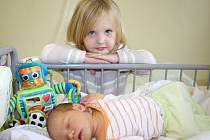 ANDREJKA DOSTALA BRÁŠKU. Matěj Stejskal se rodičům Jakubovi a Janě narodil v pondělí 15. října 2012  v 10.55 hodin s mírami 51 cm a 3 350 g. Na brášku předem čekala i tříletá sestřička Andrejka, která si ho s rodiči odvezla z porodnice do Nehvizd u Prahy