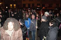 Pokojné demonstrace v Lysé se zúčastnily desítky lidí.