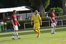 Z fotbalového utkání okresního přeboru Bohemia Poděbrady B - Běrunice (7:0)