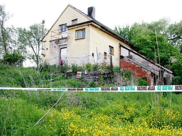 Drážní domek, ve kterém byla nalezena zavražděná Lucie V.