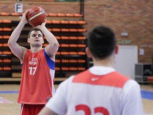 Trénink České basketbalové reprezentace