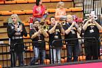 PODPORA FANOUŠKŮ. Basketbalisté Nymburka budou v dalším zápase Ligy mistrů spoléhat na své příznivce. Chybět určitě nebudou ani trumpety.