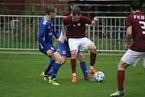 Z fotbalového utkání krajského přeboru Bohemia Poděbrady - Lysá n. L. (3:3, PK 2:4)