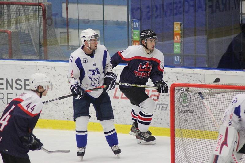 Z hokejového utkání Krajské ligy Kolín B - Poděbrady