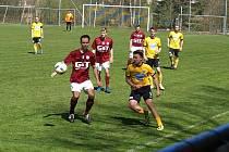 Z fotbalového utkání krajského přeboru Poříčí nad Sázavou - Bohemia Poděbrady (2:1)