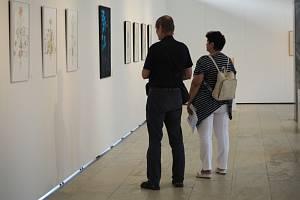 Výtvarník Michal Bačák vystavuje v Galerii Ludvíka Kuby v Poděbradech.
