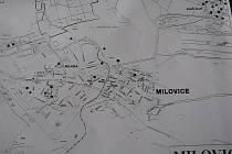 Mapka s leošními požáry v Milovicích