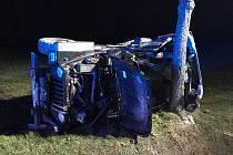 Dopravní nehoda osobního automobilu v Poděbradech - Polabci.