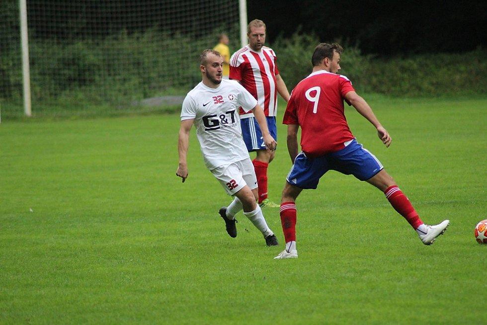 Z fotbalového utkání krajského přeboru Bohemia Poděbrady - Kosoř (5:0)