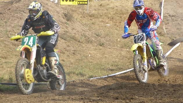 Z motocrossových závodů v Chlebích