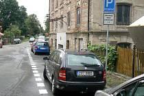 Nová parkovací místa v ulici Na Přístavě.