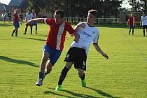 Z fotbalového utkání I.B třídy Pátek - Milovice (3:3, PK 3:0)