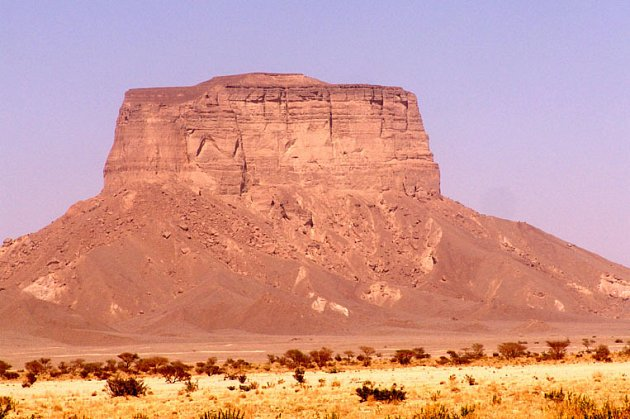 Stolová hora ve wadi Hadramaut.