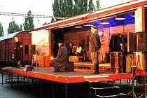 Vlak Lustig v Poděbradech