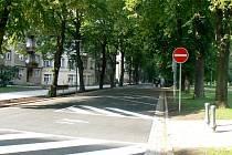Nová parkovací stání na Náměstí T. G. Masaryka.