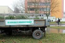 Valník na vánoční stromky. ilustrační foto.