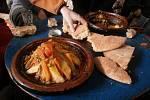 Vynikající marocké jídlo tagin.
