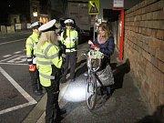 Policisté se v posledních týdnech zaměřují i na kontroly cyklistů.