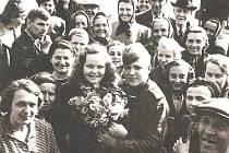 Vítání ruského vojáka, Nymburk, 10. května