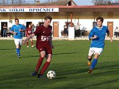 Fotbalisté Opočnice přišli v zápase s rezervou Bohemie o dvoubrankový náskok. Hosté vyrovnali v poslední minutě.