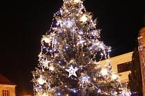 Rozsvícení vánočního stromu v Nymburce