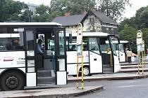 Nymburské autobusové nádraží.