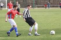 Z fotbalového utkání I.A třídy Bohemia Poděbrady - Mnichovo Hradiště (1:1)