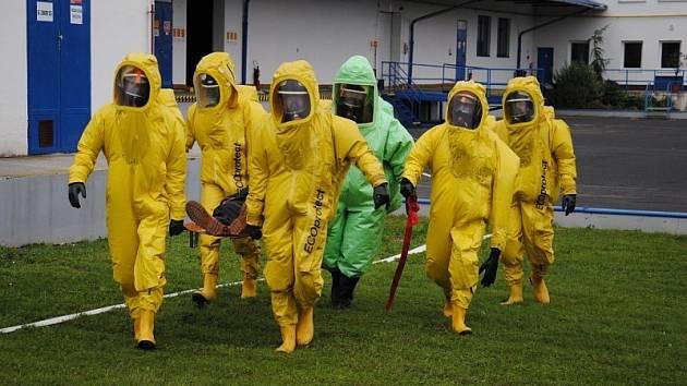 Taktické cvičení hasičských sborů v Nymburce
