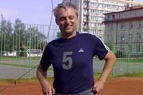 Jindřich Vondra v dresu poděbradských volejbalistů.