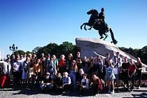 Petrohrad se stal hlavním cílem studentů.