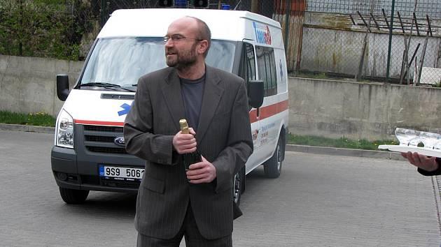 Jednatel společnosti Medigroup Martin Vojtíšek. Společnost provozuje nymburskou nemocnici.