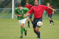 Z přípravného fotbalového utkání Radim - Sokoleč (1:5)