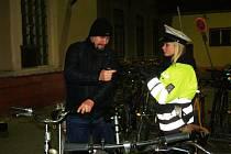 V Nymburce se ve čtvrtek brzy ráno konala policejní akce zaměřená na bezpečnost cyklistů.